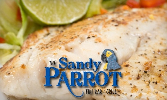 The Sandy Parrot Tiki Bar & Grill  - Bonita Springs: $20 for $40 Worth of Flavorful Fare and Drinks at The Sandy Parrot Tiki Bar & Grill