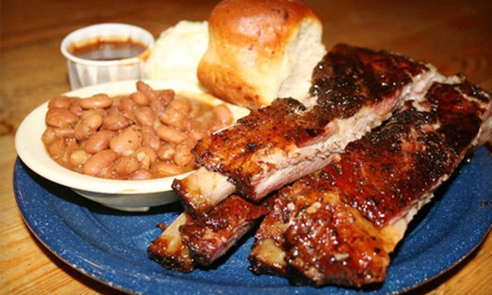 Fuschak's Pit Bar-B-Q - San Marcos: Barbecue and Soda for Two or Four at Fuschak's Pit Bar-B-Q in San Marcos (53% Off)