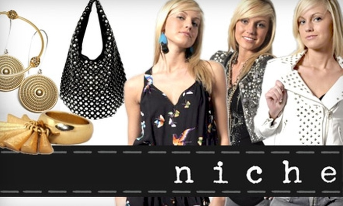Niche - Central Indianapolis: $30 for $65 Worth of Chic Wares, Handbags, and Jewelry at Niche