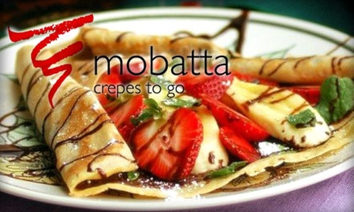 Mobatta Crepes To Go - Central Business District: $5 for $12 Worth of Creative Crêpes & Coffee at Mobatta Crepes to Go