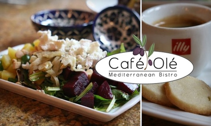 Café Olé  - Cathedral - Wesley Heights - McLean Gardens: $15 for $30 Worth of Mediterranean Fare & Drinks at Café Olé