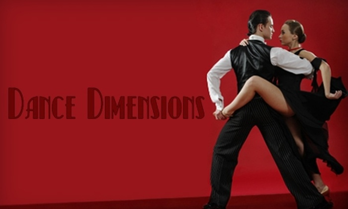 Dance Dimensions - Knoxville: $15 for Three Private Lessons, Two Group lessons, and Two Dance Parties at Dance Dimensions ($117.50 Value)