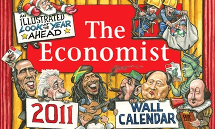 """""""The Economist"""" - Evanston: $14 for 2011 Wall Calendar: """"An Illustrated Look at the Year Ahead"""" from """"The Economist"""""""