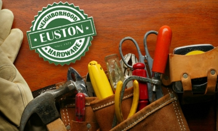 Euston's Hardware - Multiple Locations: $10 for $20 Worth of Goods at Euston Hardware or Pack's Hardware