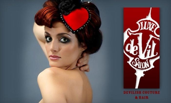 Luxe De Vil Salon - Lincoln Park: $50 for $110 Worth of Salon Services at Luxe De Vil Salon