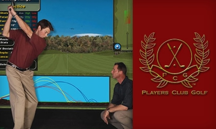 Players Club Golf - Pico: $65 for One-Month Membership and Half-Hour Lesson with Golf Pro ($254 Value) or $25 for Two Hours on Golf Simulator ($50 Value) at Players Club Golf in Santa Monica