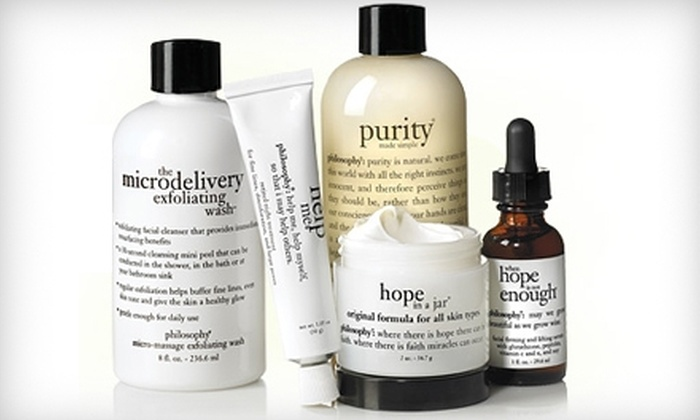 Something is. philosphy facial products