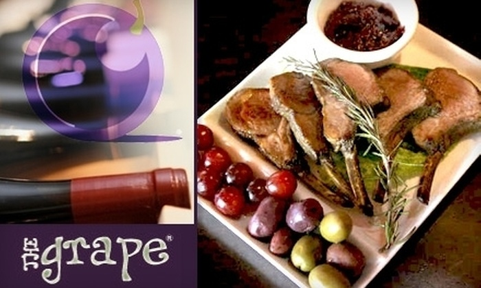 The Grape - Northwest Tampa: $30 Worth of Classy Wines and Gourmet Cuisine at The Grape