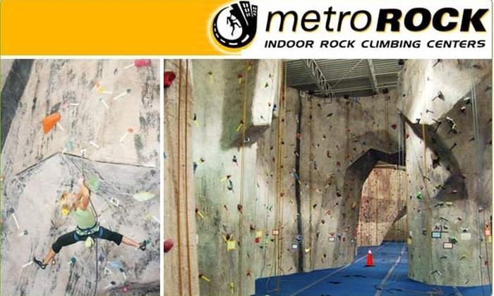 MetroRock Indoor Climbing - Newburyport: $49 for Rock-Climbing Class and One Month of Climbing