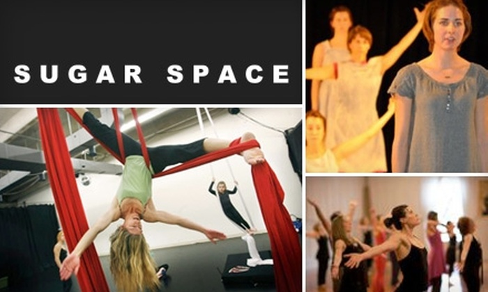 Sugar Space Studio for the Arts - Sandy: $20 for Four Classes in Yoga, Art, Aerial Acrobatics, and More at Sugar Space Studio for the Arts