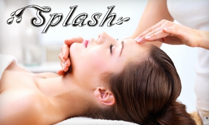 Splash Hair Salon - Washington: $60 for a 30-minute Recovery Facial with Makeup and Eyelash Application at Splash Hair Salon