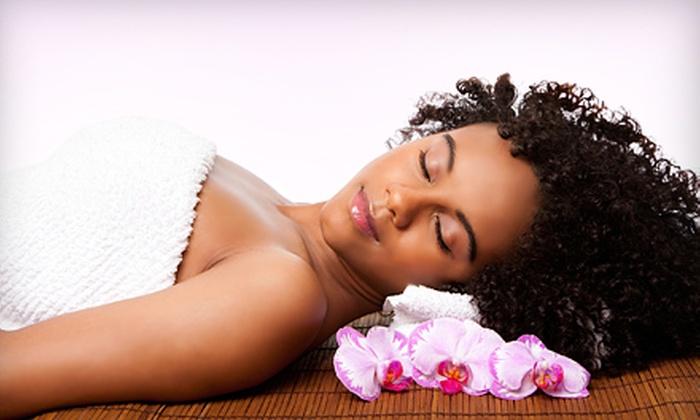Amaka's International Hair - Durham: Massage and Facial or Shampoo, Style, Mani-Pedi, Massage, and Facial at Amaka's International Hair (Up to 54% Off)