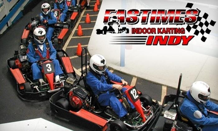 Go Karts Indianapolis >> Half Off Go Karting At Fastimes Fast Times Indoor Karting Groupon