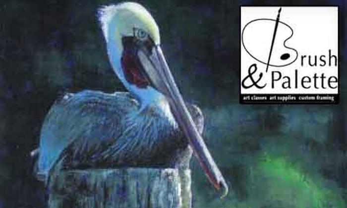 Brush & Palette Studio - Tallahassee: $25 for One Month of Art Class of Your Choice at Brush & Palette Studio ($54 Value)