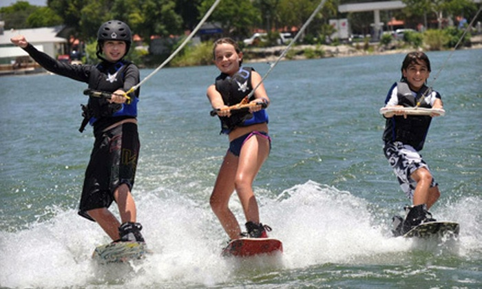 LTS Wakeboard and Waterski School - Crystal Lake: Water-Sports Lesson or Kid's Party Package with Tubing for Up to 10 at LTS Wakeboard and Waterski School in Pompano Beach (Half Off)