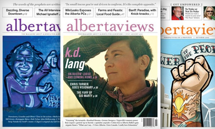 "Alberta Views: $15 for a One-Year Subscription to ""Alberta Views"" Magazine ($29.99 Value)"