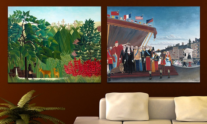 "Henri Rousseau 22""x18"" Prints on Canvas: $39.99 for an Henri Rousseau 22""x18"" Print on Canvas ($109 List Price). Multiple Works. Free Shipping and Returns."