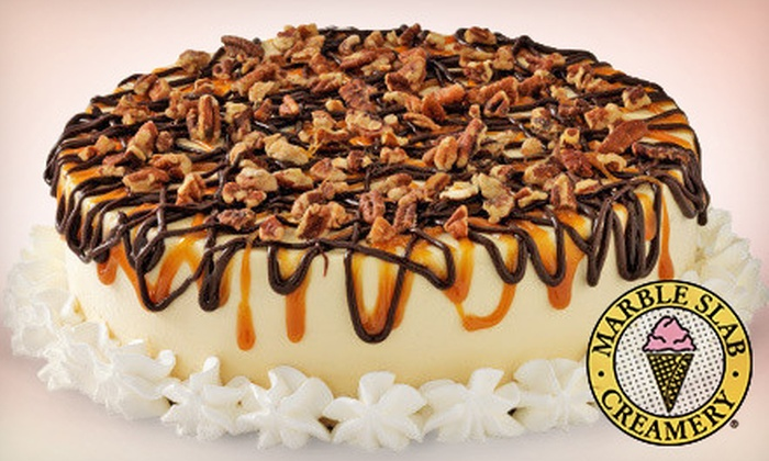 Marble Slab Creamery - Multiple Locations: $18 for a Small Ice-Cream Cake and 1 Litre of Ice Cream at Marble Slab Creamery ($36.90 Value)