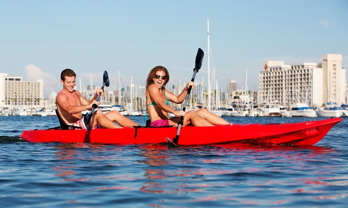 SD Adventures - Midway District: Kayak or Standup-Paddleboard Rental for One, Two, or Four from SD Adventures (Up to 63% Off)