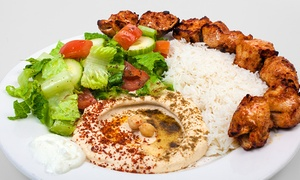 The Hummus Factory : Mediterranean Food for Dine-In or Take-Out at The Hummus Factory (Up to 40% Off)