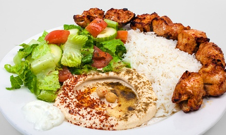 Mediterranean Food for Dine-In or Take-Out at The Hummus Factory (Up to 40% Off)