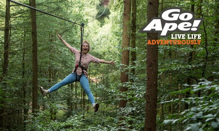 Tree Top Adventure 29 Locations Go Ape Groupon