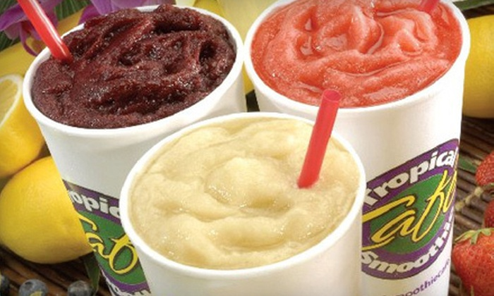 Tropical Smoothie Cafe - Multiple Locations: Six Smoothies or Deli-Style Catering for 10 or 15 at Tropical Smoothie Cafe (Up to 56% Off)