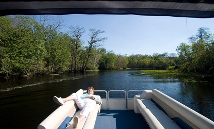 Four- or Eight-Hour Pontoon-Boat Rental from Power Up Watersports (Up to 40% Off)