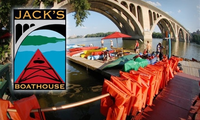 Jack's Boathouse - Washington: $30 for Five One-Hour Kayak or Canoe Excursions on the Potomac River ($60 Value)