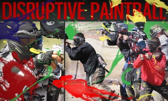Disruptive Paintball - Marana: $20 for an All-Day Pass, CO2 or Air, 500 Paintballs, and Rental Equipment at Disruptive Paintball