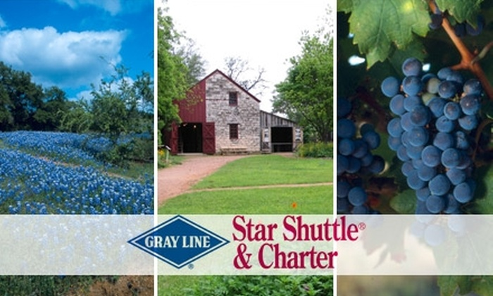 Gray Line San Antonio - Uptown Loop: $32 for a Hill Country Wine Tour with Shopping in Fredericksburg from Gray Line San Antonio ($89 Value)