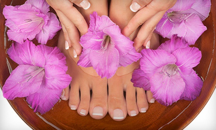 Rachel's Lucky Nails - Tarzana: $15 for Mani-Pedi at Rachel's Lucky Nails in Tarzana ($30 Value)