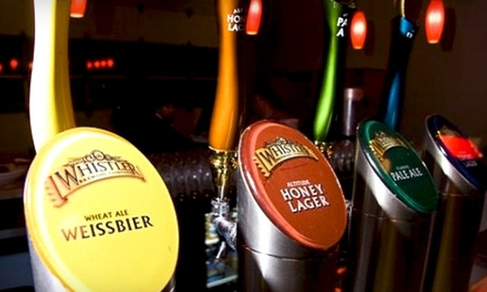 Whistler Brewing Company - Whistler: $17 for a Brewery Tour, Four Samples, and One Appetizer for Two at Whistler Brewing Company