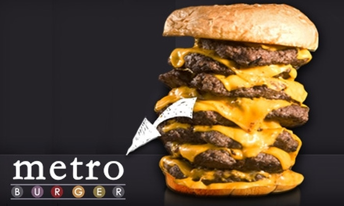 Metro Burger - Highland Square: $5 for $10 Worth of All-American Eats at Metro Burger