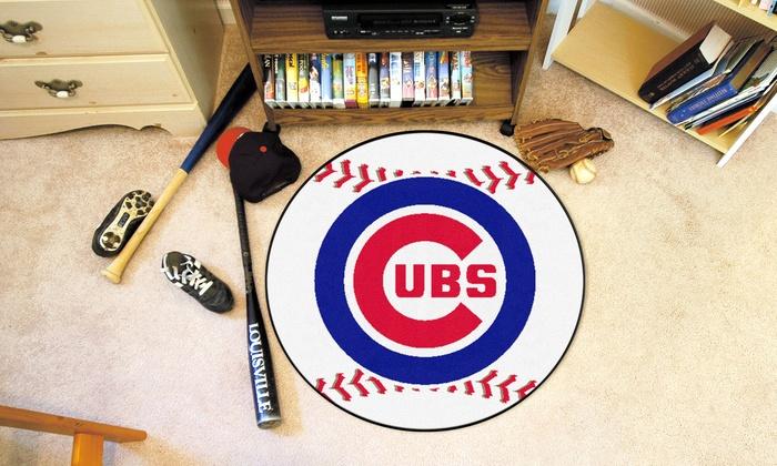 Chicago Cubs Baseball Mat: Chicago Cubs Baseball Mat