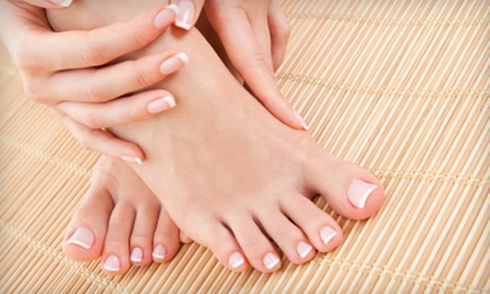 Victoria's Nails and Spa - Multiple Locations: $44 for a UV Gel Manicure and Standard Pedicure at Victoria's Nails and Spa ($89 Value)