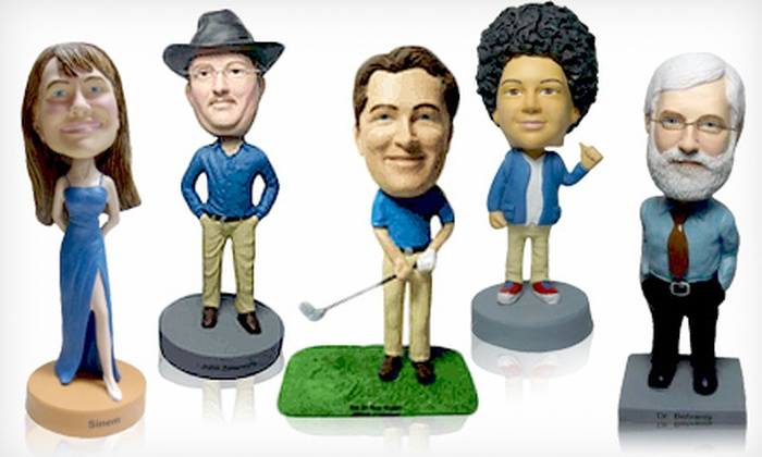 AllBobbleheads.com: $69 for a Hand-Sculpted-Bobblehead Package with Shipping from AllBobbleheads.com ($130 Value)