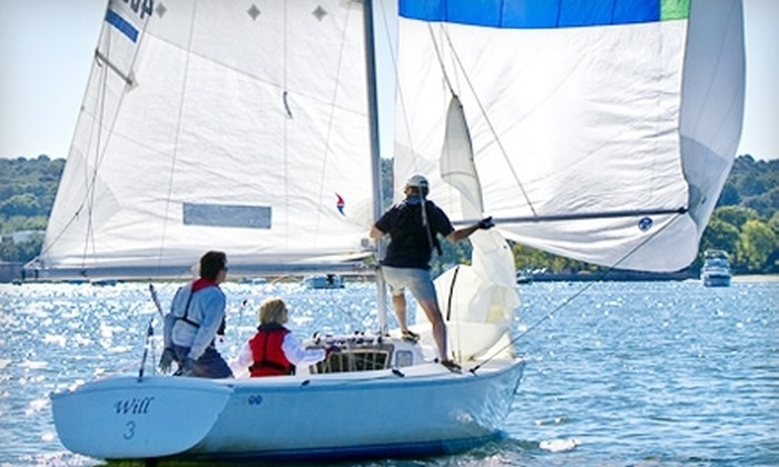 The WaterFront Center - Oyster Bay: Sailing Lesson for Two from The WaterFront Center in Oyster Bay. Two Options Available.