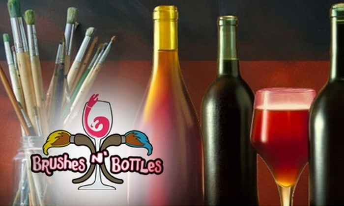 Brushes n' Bottles - Multiple Locations: $22 for a Three-Hour Painting Class at Brushes n' Bottles ($45 Value)