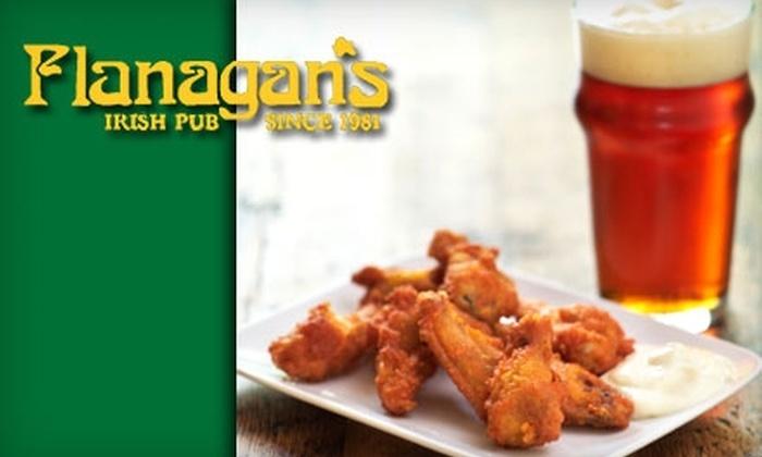 Flanagan's Irish Pub - Heartside-Downtown: $10 for $25 Worth of Pub Fare and Drinks at Flanagan's Irish Pub