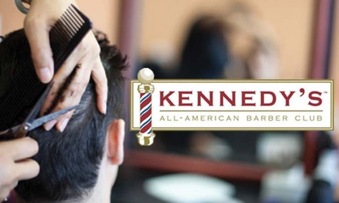 Kennedy's All-American Barber Club - Rockville: $17 for a Straight-Razor Shave or a Haircut with Waxing at Kennedy's All-American Barber Club ($35 Value)