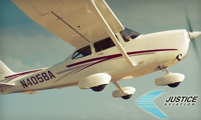 Justice Aviation - Sunpark: $99 for Discovery Flight for Two with Justice Aviation in Santa Monica ($198 Value)