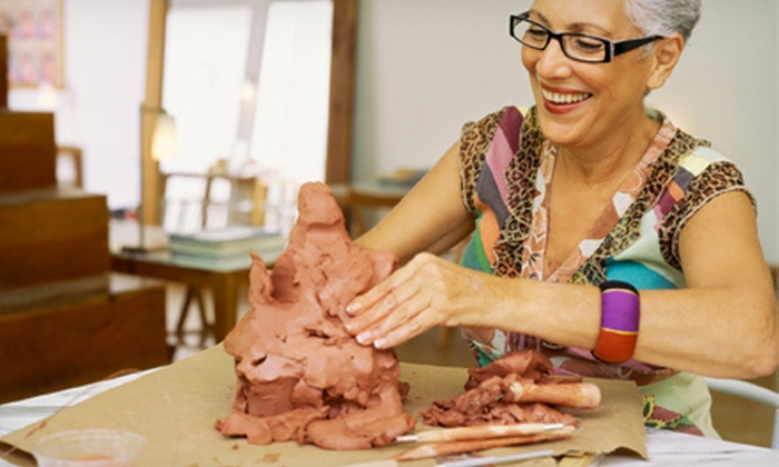 Let's Art - Highland: $20 for a Two-Hour Clay-Sculpture Class for Two Including Snacks and Materials at Let's Art ($40 Value)