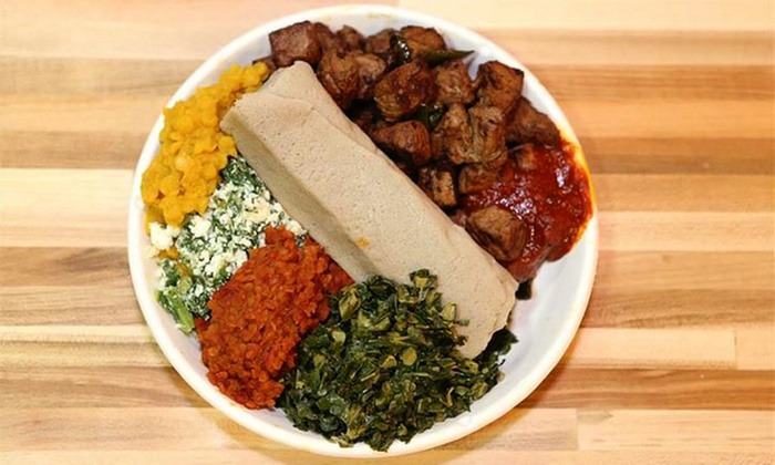 Ethio Express Grill - Silver Spring: $15 for Three Groupons, Each Good for a Build-Your-Own Plate at Ethio Express Grill (Up to $28.77 Value)