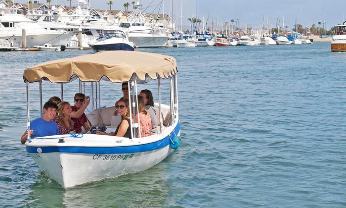 Wayward Captain Watersports - On The Docks Behind American Junkie: Electric-Boat Rental for 8 or 12 People on Weekdays or Weekends at Wayward Captain Watersports (Up to 41% Off)