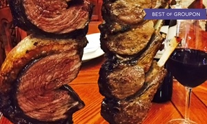 Red & Green Brazilian Steakhouse: Brazilian Meal with Bottles of Wine for Two or Four at Red & Green Brazilian Steakhouse (Up to 56% Off)
