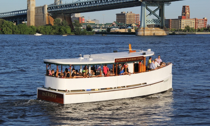 Patriot Harbor Lines - Penn's Landing Waterfront : 90-Minute Philadelphia Harbor Cruise for Two or Four from Patriot Harbor Lines (Up to 50% Off)
