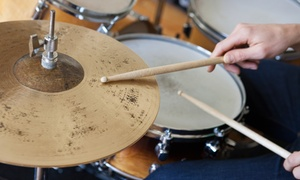 Rhythm Room: Three One-to-One Drumming Lessons at Rhythm Room (Up to 72% Off)