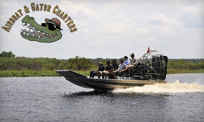 Airboat & Gator Charters - Multiple Locations: $25 for a 90-Minute Airboat Tour from Airboat & Gator Charters ($50 Value)