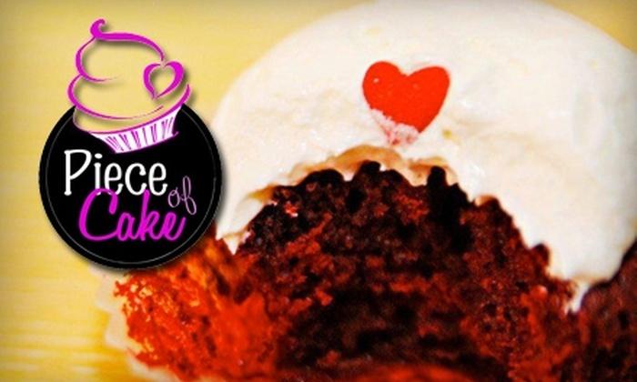 Piece of Cake - Oakwood: $12 for Dozen Classic Cupcakes ($24 Value), $13 for a Dozen Gourmet Cupcakes ($26 Value), or $14 for a Dozen Filled Cupcakes ($28 Value) at Piece of Cake in Oakwood